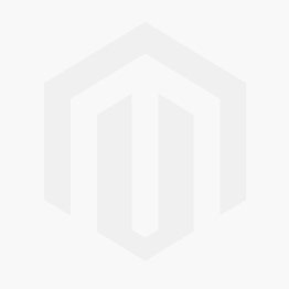 A blue dimout roller blind in a window
